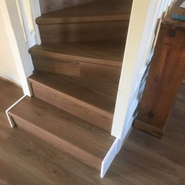 Elka 8mm Mocha oak stair case